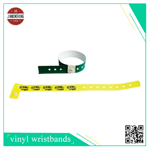 L Shape Tyvek Wristband with One Side Silk-Screen Printing