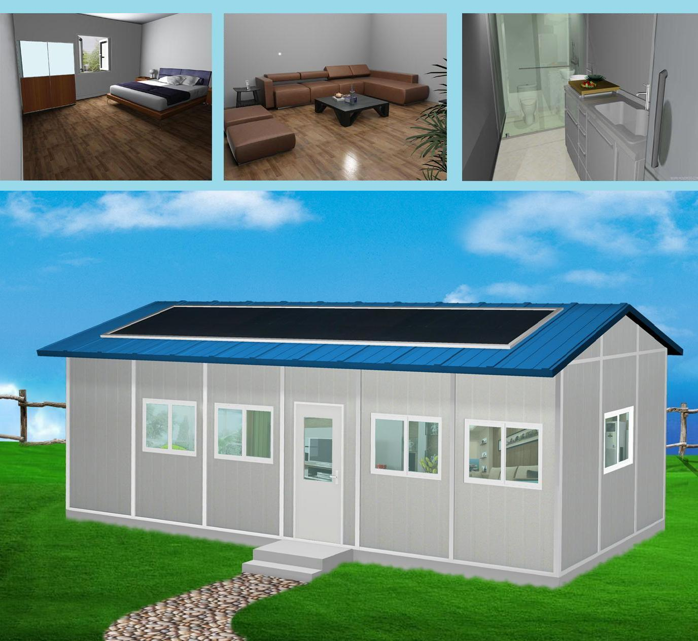 China reassembling type gable roof prefab house china for Prefab roof