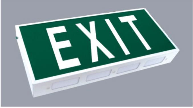 emergency exit sign. Emergency Exit Sign with 8W