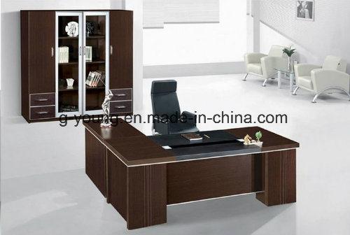 Modern Wooden Table L Shape Manager Desk Office Furniture