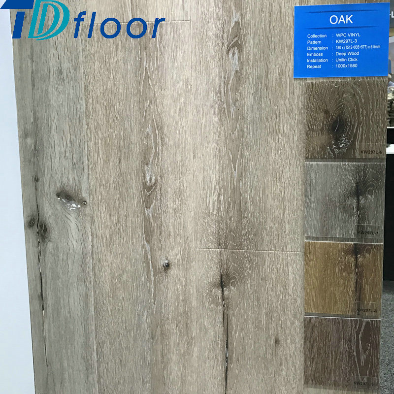 High Quality Wood Plastic Composite Waterproof Oak Wood WPC Flooring for 5mm 5.5mm 6mm 7mm