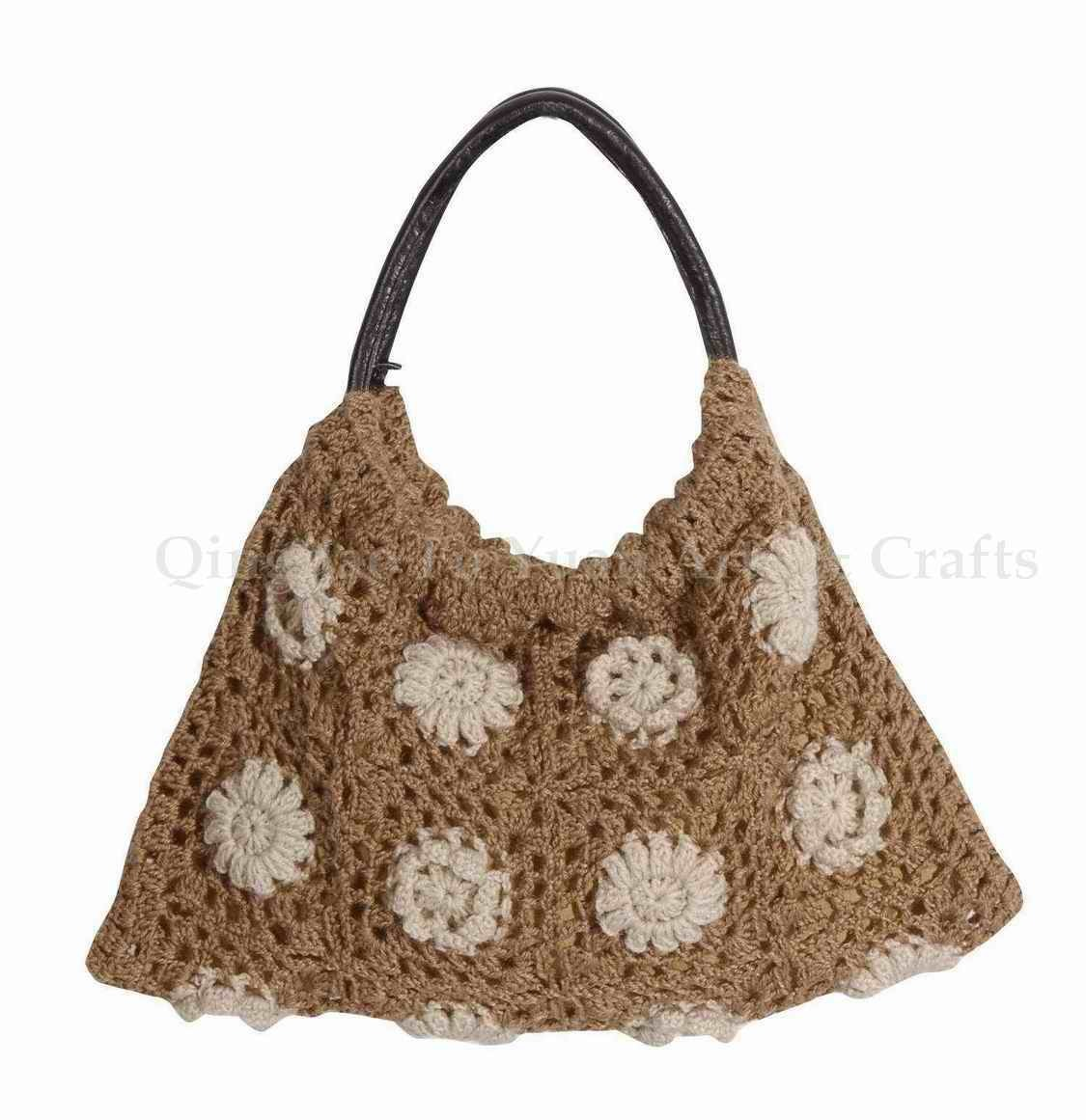 Crocheted Handbag : Crochet A Bag