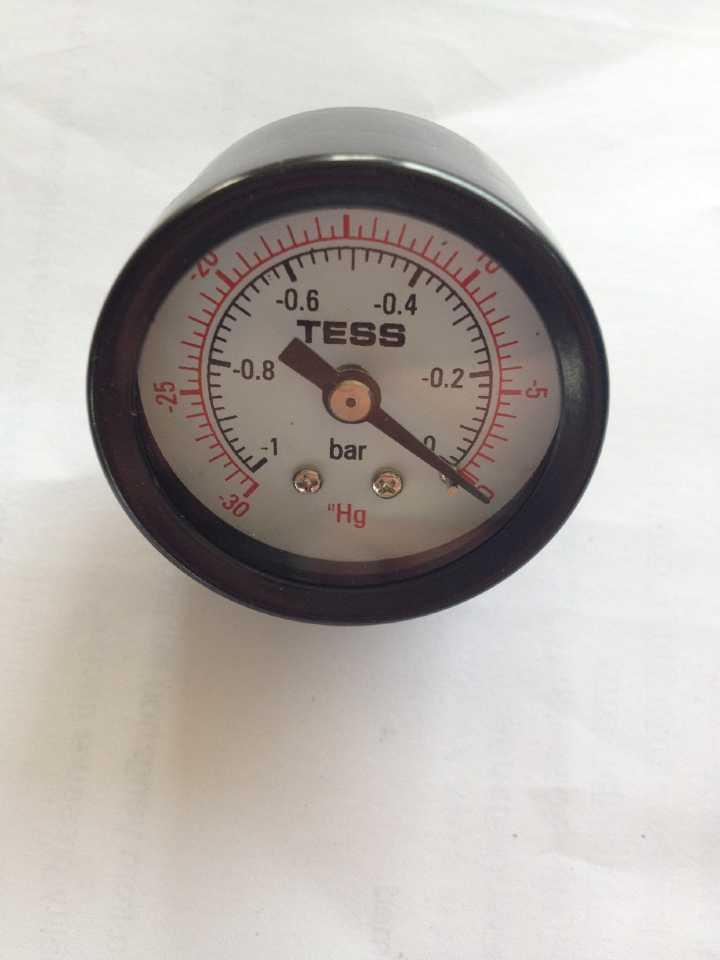 Y40 Black Steel Pressure Gauge