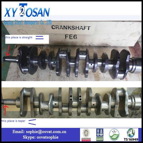 Autoparts Crankshaft for Nissan Fe6 RF8 Engine Shaft
