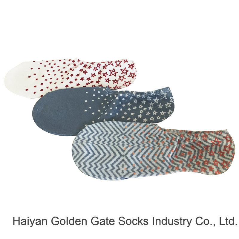 Half Cushion Poly Fashion Print Chuck Hidden Liner Socks (JMPT01)