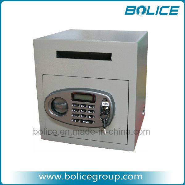Front Loading Drop Slot Electronic Cash Deposit Safe (STDP45)
