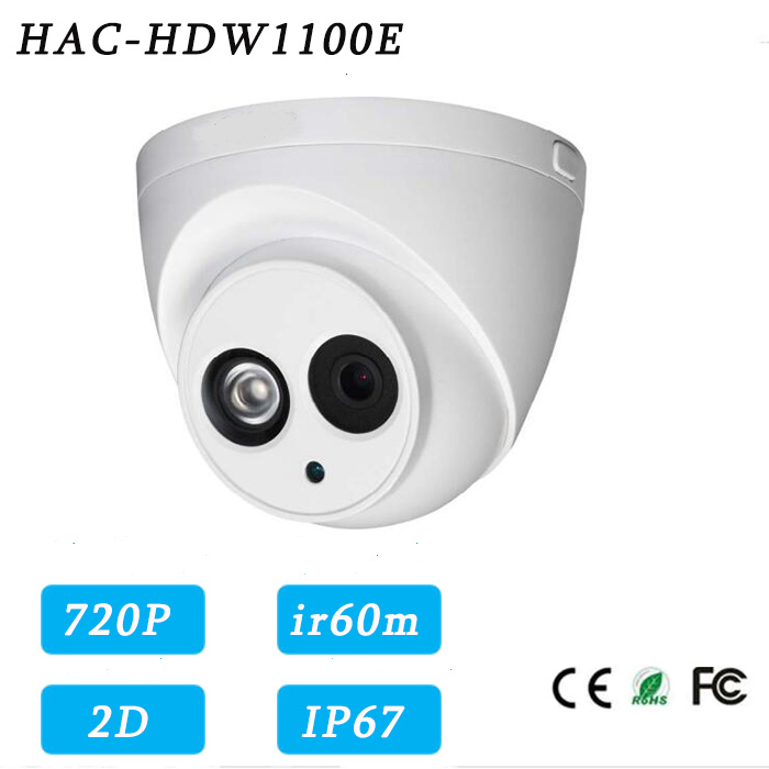1MP 720p Fixed Lens IR60m Long Distance Hdcvi Security Camera{Hac-Hdw1100e}