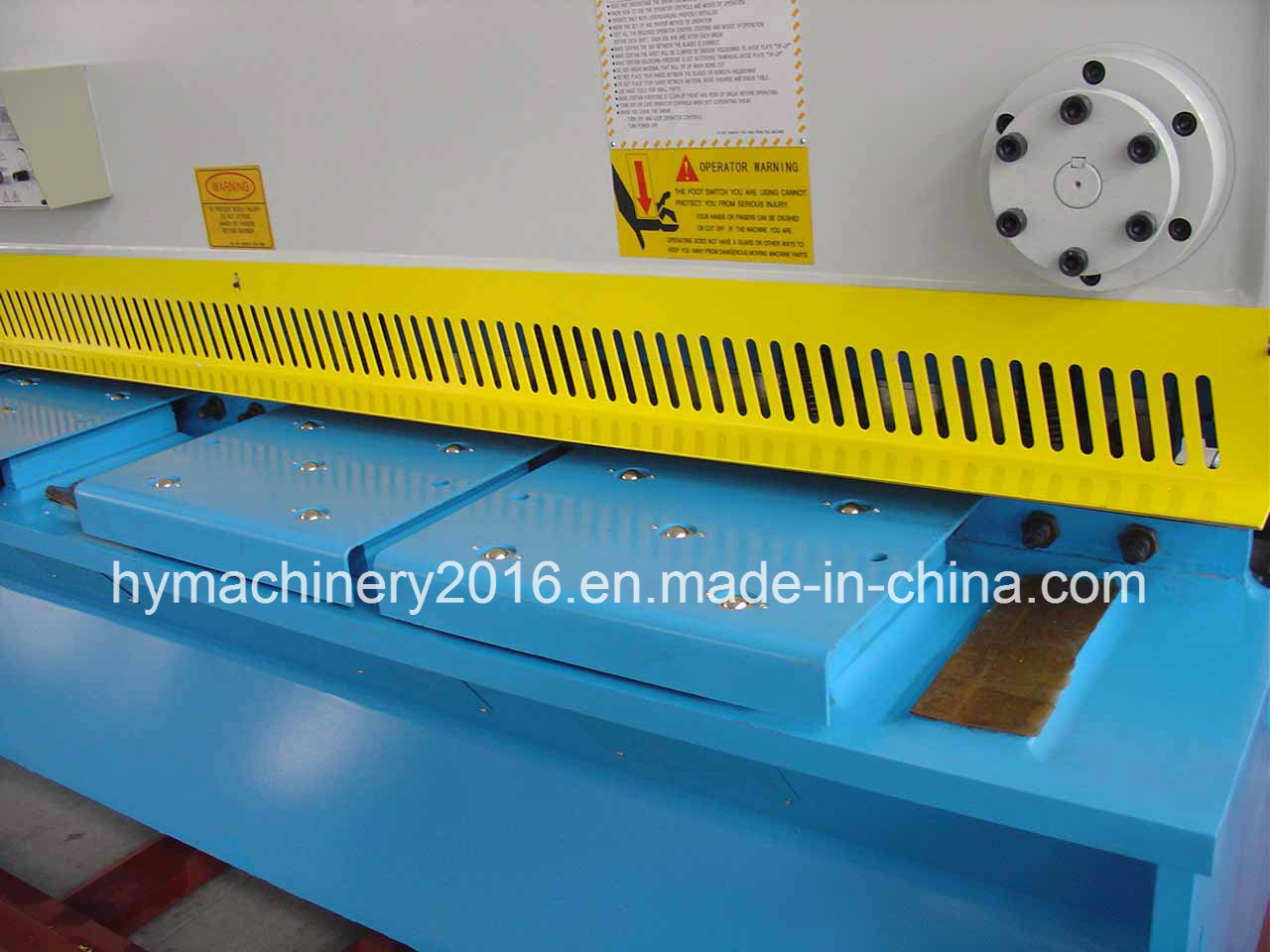 QC11y-12X2500 E21s Control Hydraulic Guillotine Shearing Machinery