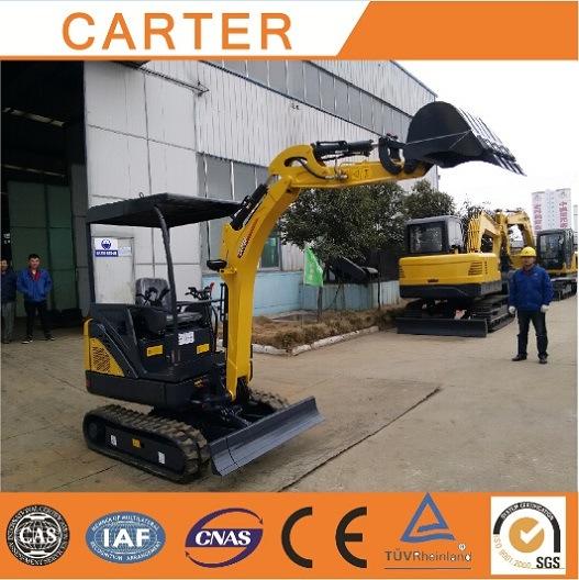 CT18-9ds (1.8T 0.08m3 Bucket) Crawler Diesel-Powered Multifunctional Mini Excavator