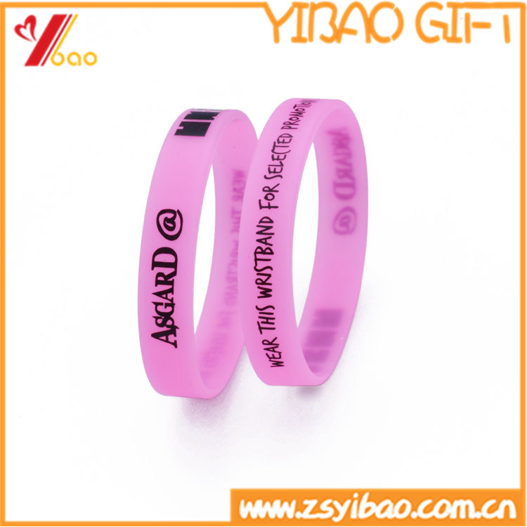 Custom Printing Simple Logo Silicone Wrist Band (YB-LY-WR-51)