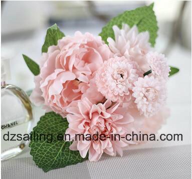 Decoration Artificial Flower of Peony and Dahlia Bouquet (SF16399)