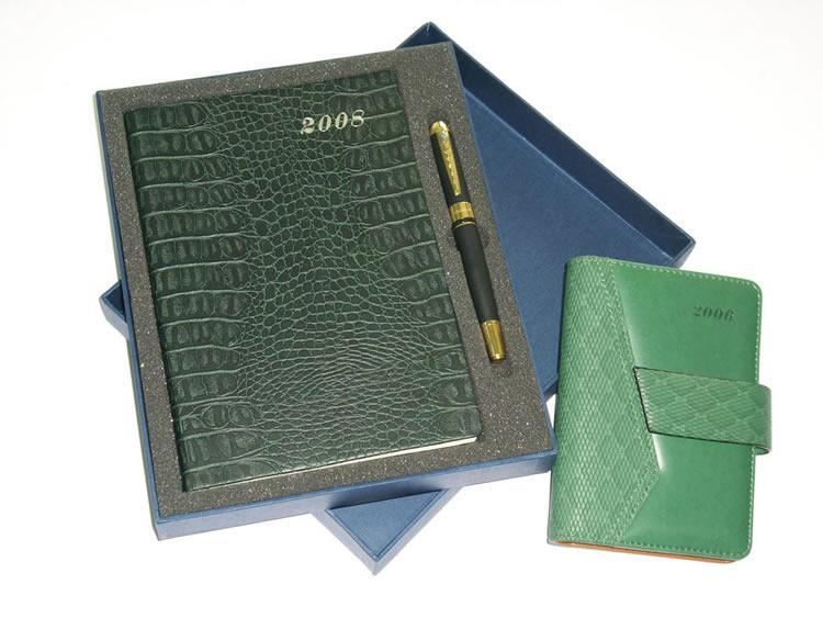 Customized PU Leather Note Book Diary/ Leather Notebook