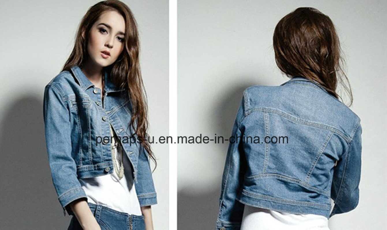 2016 Wholesale Women Jacket Fashion and Casual Ladies Denim Coat
