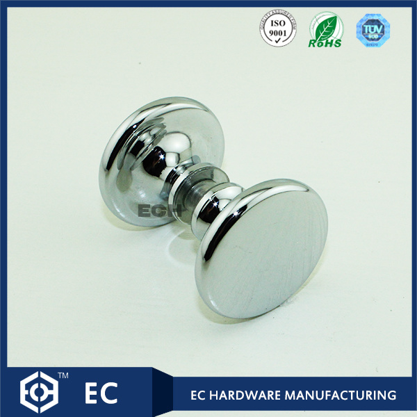 Round Brass Furniture Handle and Knob with Chrome Finish
