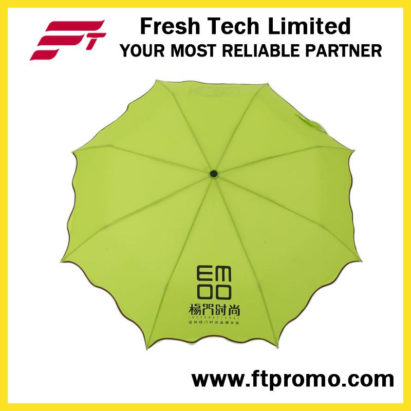 Manual Open 3-Section Folding Umbrella