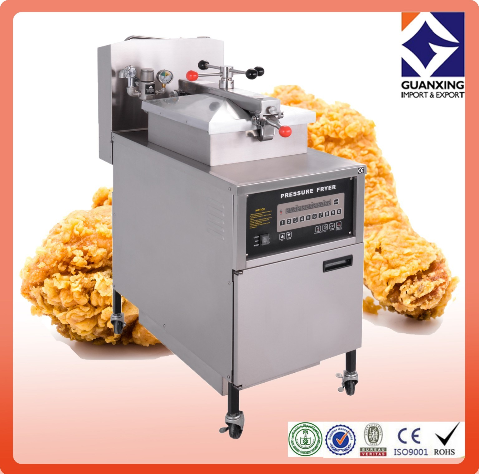 Chicken Machine/Pressure Fryer (CE and manufacturer) /Commercial Chicken Pressure Fryer/New Commercial Electric Fryer