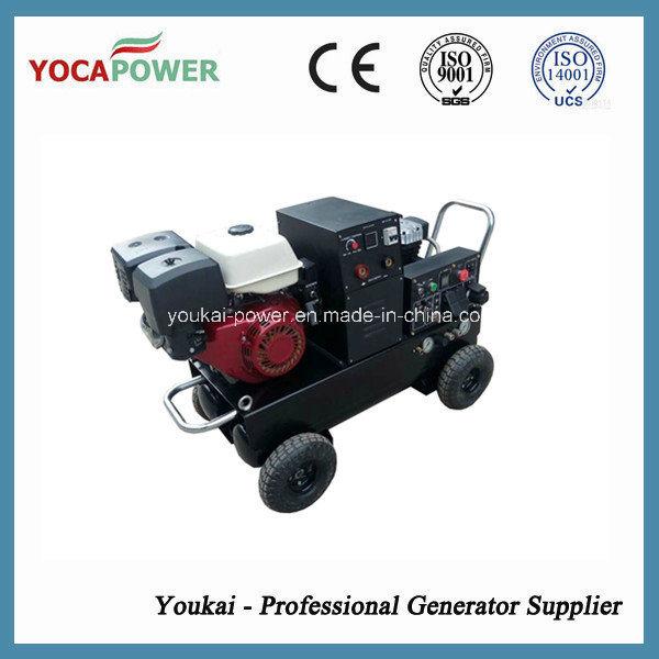 5kVA Electric Power Portable Welder and Air Compressor Gasoline Generator
