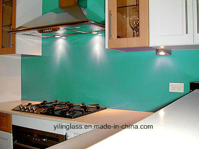 Tempered Color Painted Glass Splashback