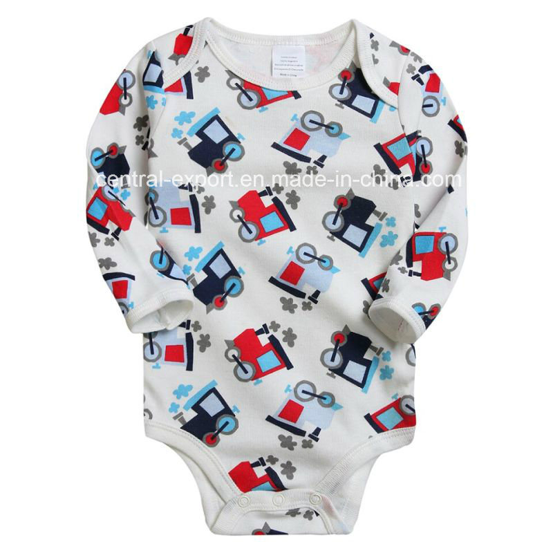 Allover Picture Print Baby Romper