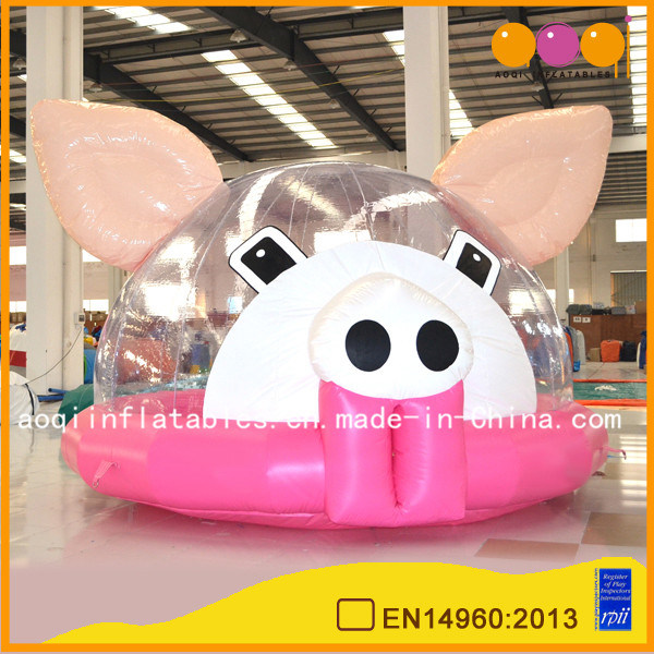 Lovely Pig Round Inflatable Bouncer (AQ405-1)