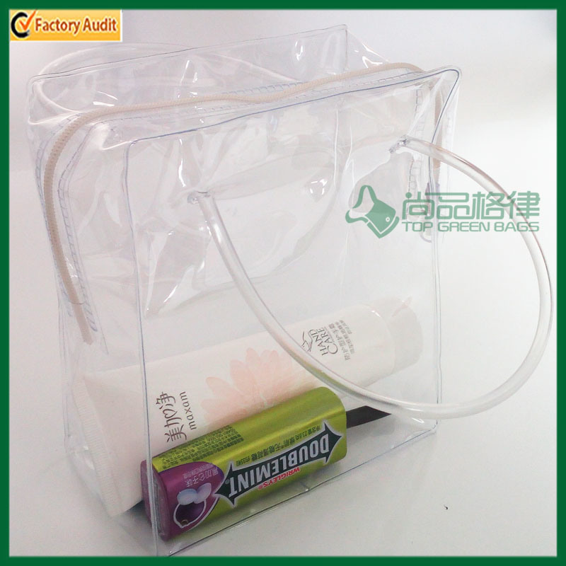 Portable Waterproof Transparent PVC Cosmetic Bag (TP-0B016)