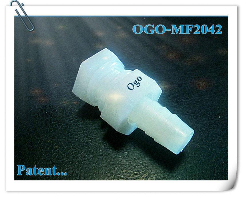 Ogo Patent Hho Fitting in Best Grade of Nylon Solving Leaking for Hho System