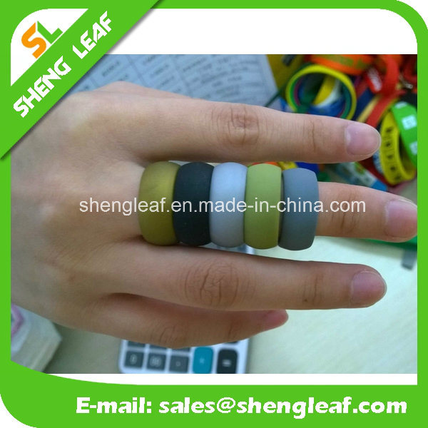 Hot Salecustom Silicone Finger Rings Promotional Gift (SLF-SR001)