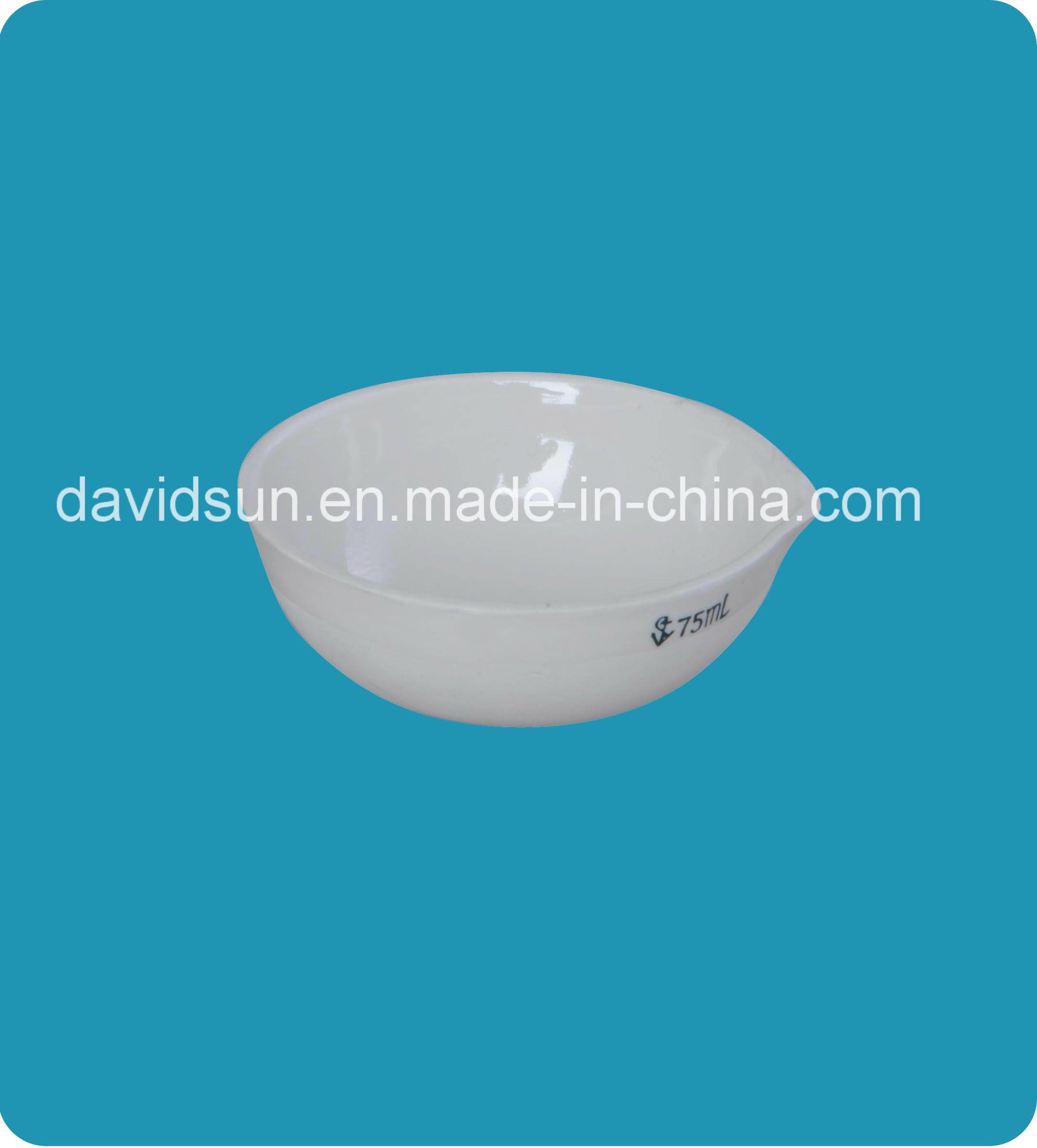 Porcelain Basins, Round Bottom with Spout, Glazed