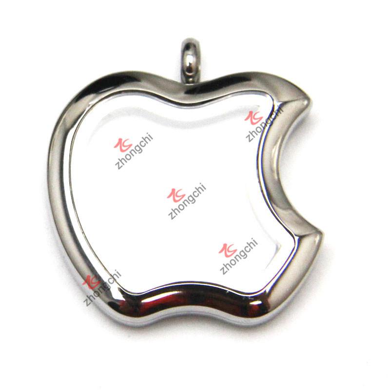 316L Stainless Steel Apple Locket Pendant Jewellery (FL)