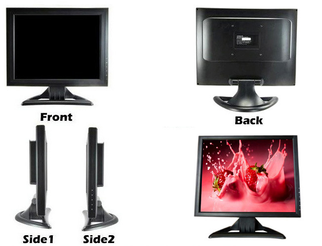 15 Inch LCD Monitor with Touch Screen for Computer Display