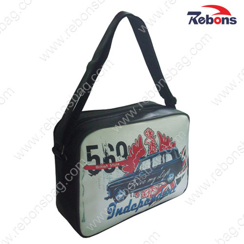 Custom PU PVC Leather Sling Shoulder Cross Body Messenger Bags for Men