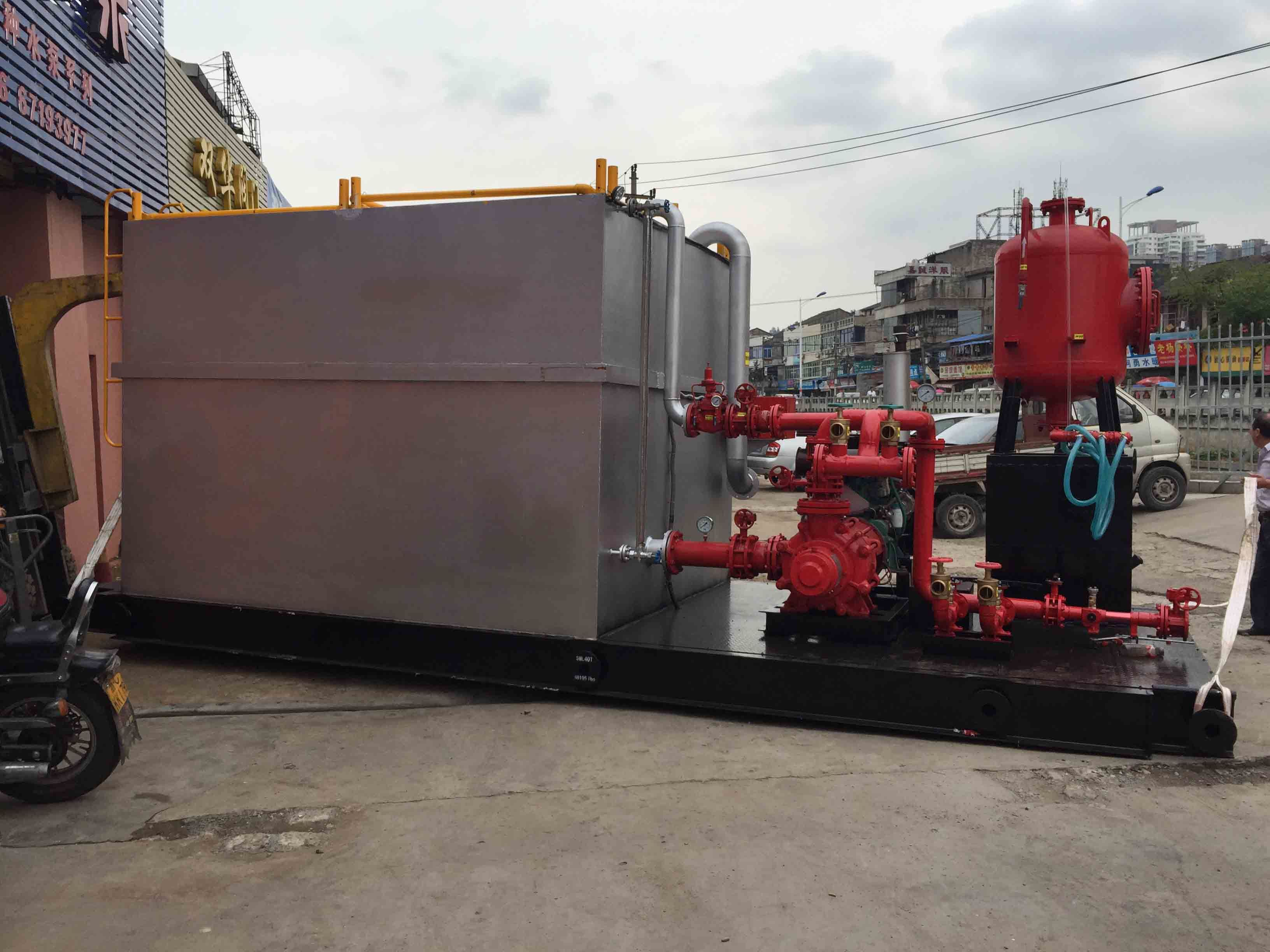 Fire Fighting Diesel Water Supply Equipment with Water Tank