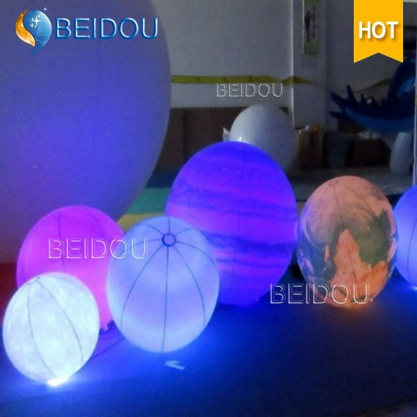 Wholesale Advertising Inflatable LED Balloons Tripod Hanging Custom Inflatable Balloon