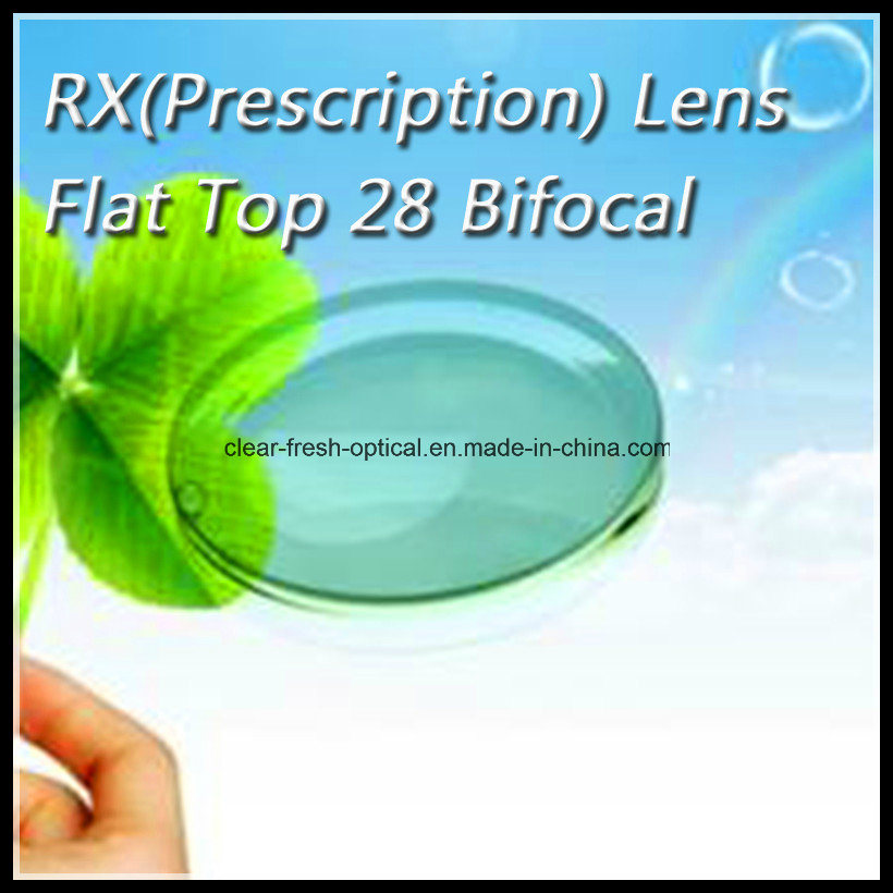 Rx (Prescription) Lens Flat Top 28 Bifocal