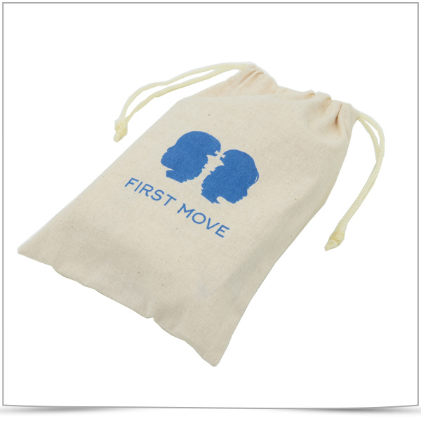 Screen Printed Cotton Drawstring Pouch and Cotton Bags