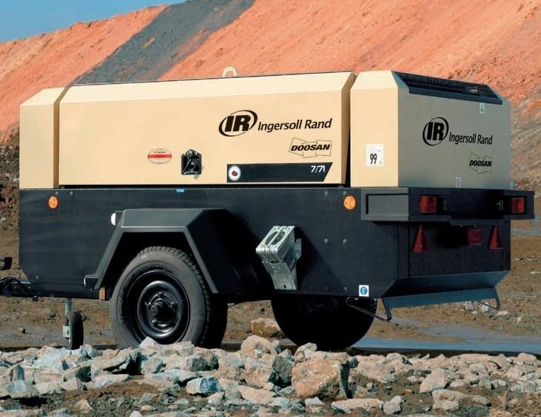Doosan Portable Air Compressor, Diesel Drive Compressor (7/71 12/56 14/85 10/105 9/110 7/120) Ingersoll Rand