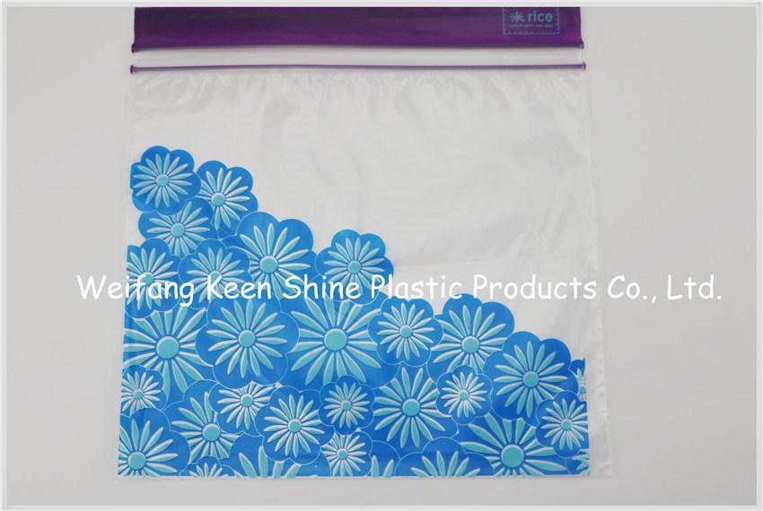 Zip Top LDPE Plastic Custom Design Grip Seal Bag