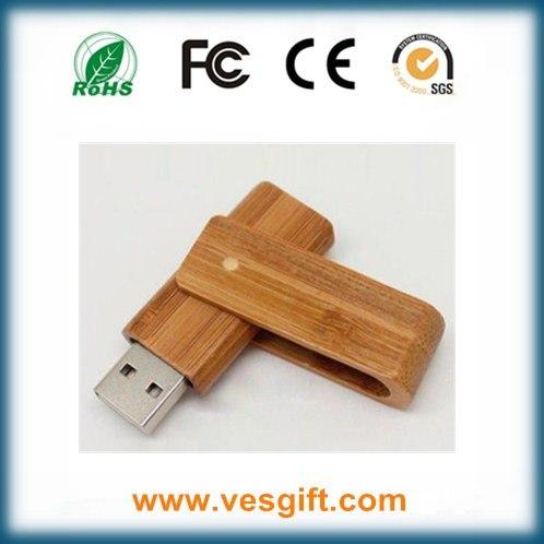 Hot Corporate Gift USB Drive Wooden Swivel USB Memory Stick