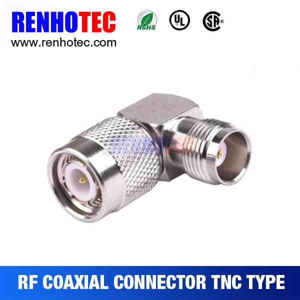50ohm Right Angle TNC Female to Male Adapter