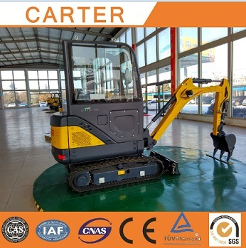CT18-9ds (cabin&retractable chassis) Hydraulic Backhoe Mini Digger