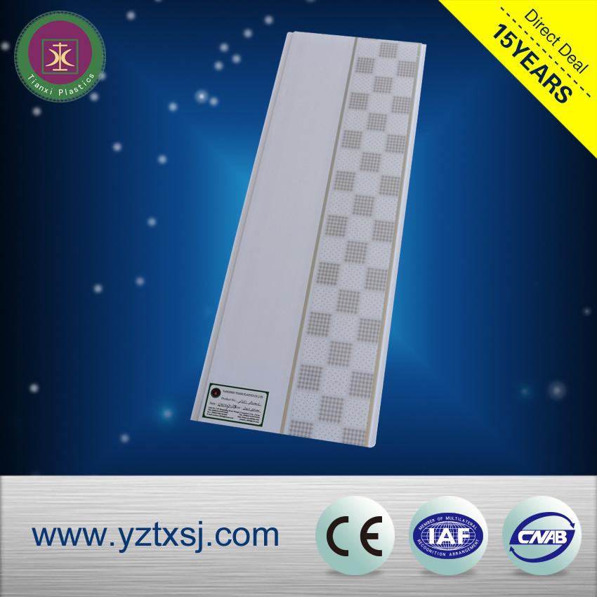 Checkboarder Design PVC Ceiling Boards Ceiling Tiles