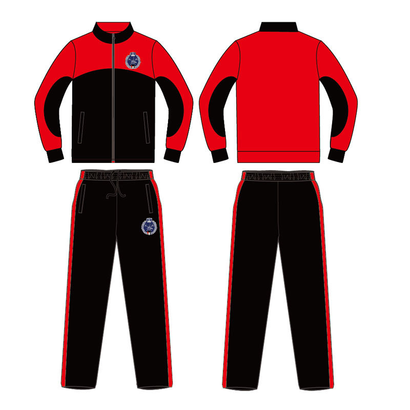 Custom Deisgn 2 Color Warm up Suit with 100% Polyester