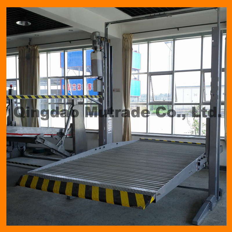 Car Garage Auto Automobiles Simple Mechanical Car Lift 2 Floor Car Lifter Equipment Two Post Car Parking System Garage