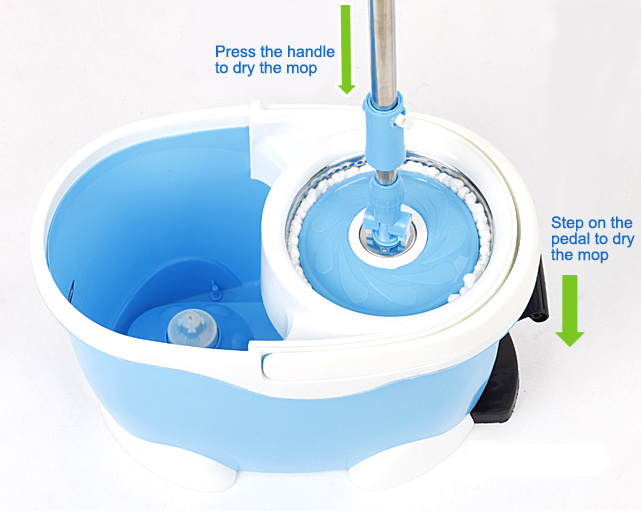 4 Device Stainless Steel Spin Magic Mop (HDR-M014B)