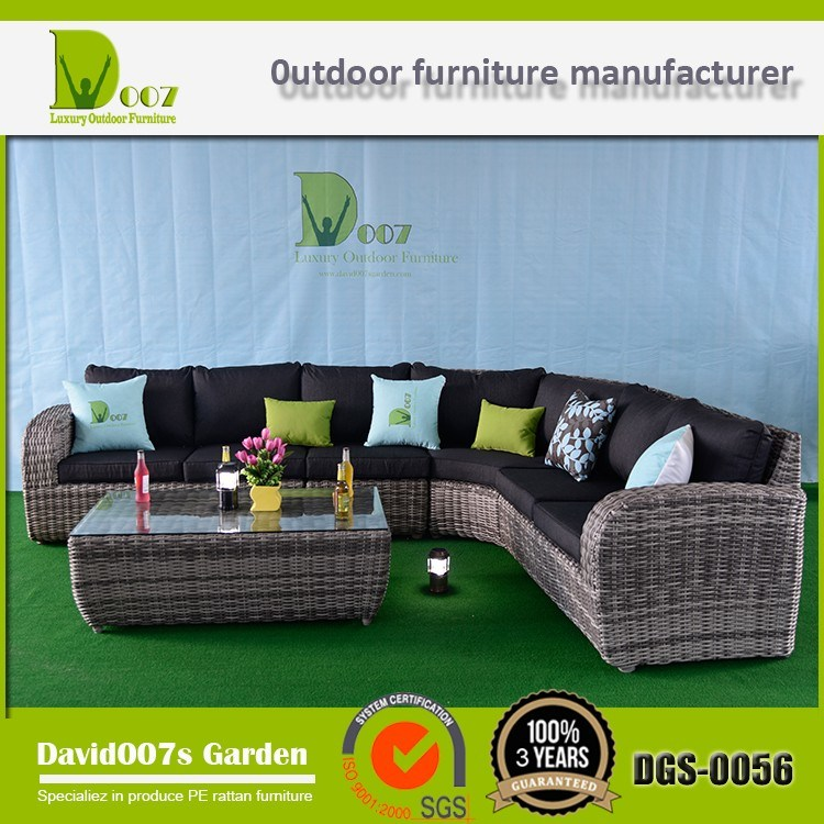 Outdoor Garden Wicker Rattan Patio Furniture Corner Sofa Sectional Lounge Set