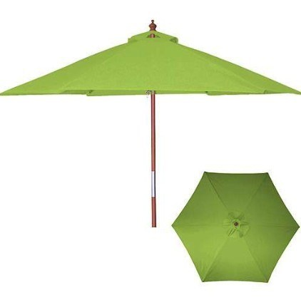 2.5m Garden Umbrella Wooden Pole 6 Ribs (BR-GU-04)