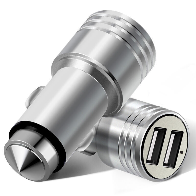 Mini Dual USB Ports Car Charger for iPhone or Samsung etc