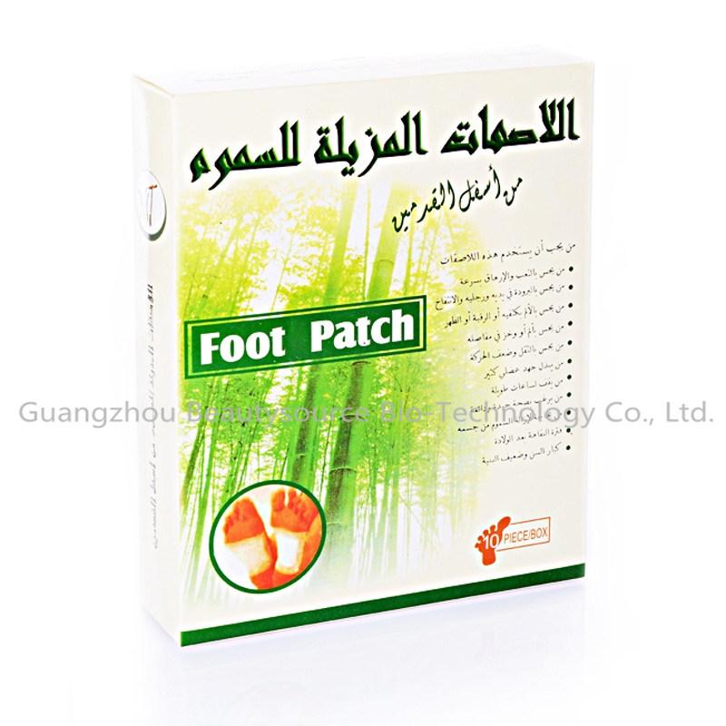 2015 Hot Sale Bamboo Vinegar Detox Foot Patch