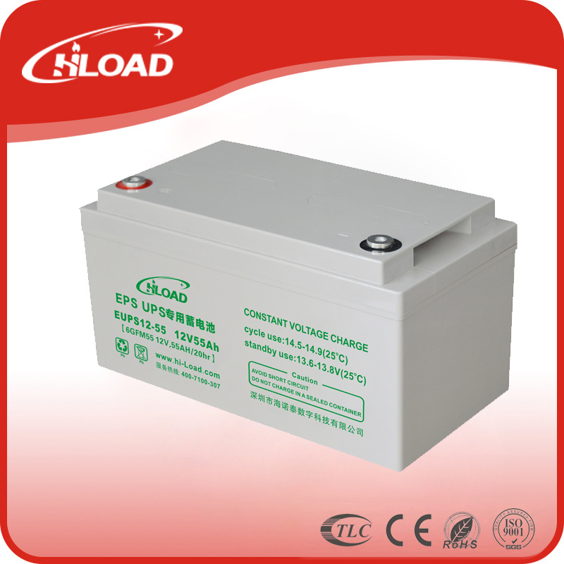 Solar Battery Deep Cycle Battery VRLA Battery 12V55ah