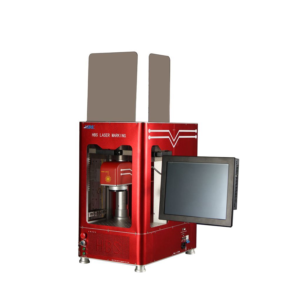 30W Fiber Laser Marking Machine with Red Cabint